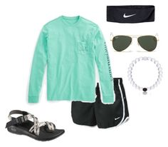 """Going on a bike ride"" by mae343 on Polyvore featuring NIKE, Vineyard Vines, Chaco and Ray-Ban Cute Comfy Outfits, Lazy Outfits, Camping Outfits, Sporty Outfits, Cute Summer Outfits, Simple Outfits, Outfits For Teens, Stylish Outfits, Comfy Clothes"