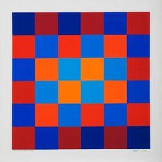 Vibration rouge bleu by HUGO RODOLFO DEMARCO