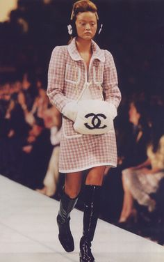 vintage chanel ear muffs and hand muff