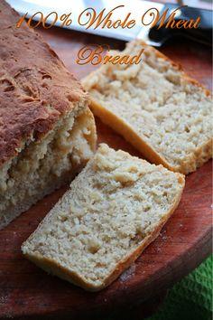 YUMMY TUMMY: 100% Whole Wheat Bread Recipe / Wheat Bread Recipe / Brown Bread Recipe