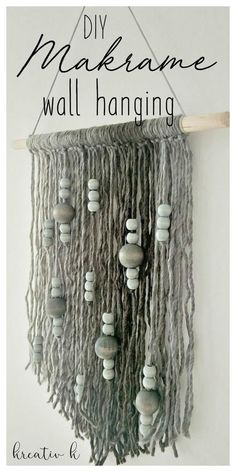 DIY makrame wall hanging kreativk.net
