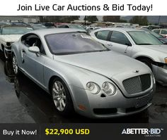 Salvage  2004 BENTLEY ALL MODELS for Sale - SCBCR63W94C022320 - https://abetter.bid/en/38257776-2004-bentley-continenta