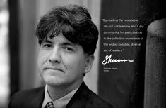 """Sherman Alexie, fantastic writer of Native American literature and author of one of my favorite personal essays, """"Superman and Me"""""""