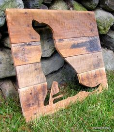 reclaimed wood, animal silhouettes