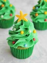Christmas tree cupcake