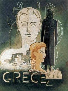 50 of the Most Beautiful Vintage Travel Posters of Greece - Greeker Than The Greeks Old Posters, Amazing Street Art, Retro Advertising, Greek Art, Mid Century Art, Vintage Travel Posters, Conceptual Art, Vintage Italian, Greece Travel