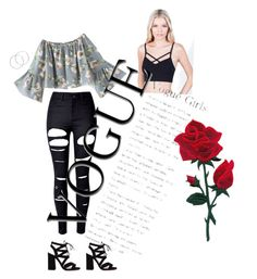 """Floral pop"" by pariswither on Polyvore featuring Bozzolo, WithChic and Melissa Odabash"