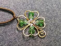Four Leaf Clover Wire Work Pendant Tutorial #jewelrymakingtips #lifestylejewelrytips