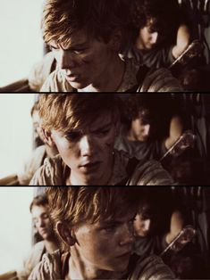 "Thomas Brodie-Sangster as Newt in ""The Maze Runner"""
