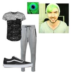 """""""gaming king!"""" by cliffordreyanna on Polyvore featuring Zanerobe, Boohoo, Vans, men's fashion and menswear"""