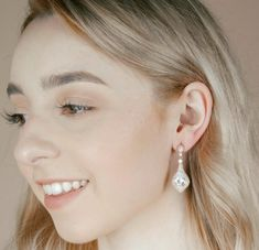 A gorgeous pair of wedding earrings with a vintage vibe, the Duchess Earrings have impressive sparkle and a timeless design. Bridal Earrings, Bridesmaid Earrings, Rose Gold Earrings, Statement Earrings, Rose Gold Wedding Jewelry, Earring Set, Wedding Bridesmaids, Bridal Accessories, Fall Wedding