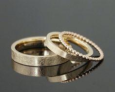 Eheringe VINTAGE SET Kordelring Ein ganz bezauberndes LIEBLINGSRINGSet die Ringe VINTAGE