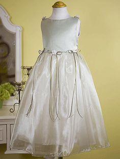 Affordable organza flower girl dress