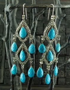 turquoise dangles.