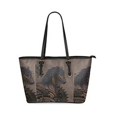 Custom Design Steampunk Horse Leather Tote Bag Small Model 1640 Handbagshaven Has On Las Bags And Fashion