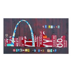 St. Louis Missouri Skyline License Plate Art Print