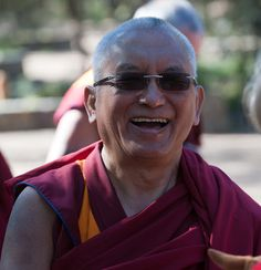 One of the great kind souls of the world.  On the site fpmt.org (Foundation for the Preservation of the Mahayana Tradition), there is an audio clip of him laughing.  It is incredibly infectious and instantly dispels negative emotions.