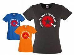Fan-Shirts für HundefreundeT-Shirt Damen Stern -Home is, where my dog is…