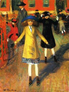 William James Glackens - Children Roller Skating