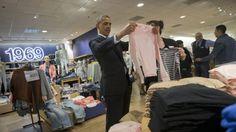 Obama takes shopping detour on fundraising trip 3/11/14