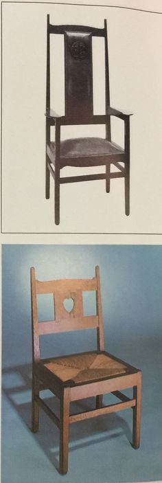 oak chairs - designed by charles voysey, 1900/1909