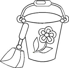 sand buckets coloring pages | Cartoon Coloring Pages