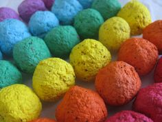 Hands-on activity for Gorse Hill funday stall? 100 Rainbow seed bombs- 6 color combo