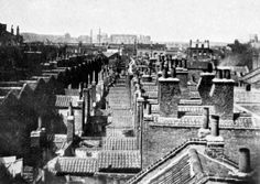 Rooftop view of houses in Shadwell, London Victorian London, Vintage London, Old London, 19th Century London, Greater London, London Photos, London Life, Mary Poppins, Best Cities