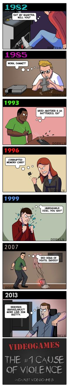 Dorkly Comic – Videogames: A History of Violence [Comic]