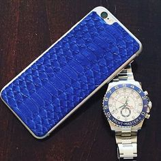 Fancy - Cobalt Python iPhone 6/6s Leather Back