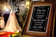 Placas para decoração de casamento