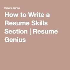 Want to learn about the best skills for your resume and how to list them effectively? Simply looking for good resume skills examples? My Resume, Best Resume, Resume Tips, Resume Writing, Resume Ideas, Cv Skills, Resume Skills Section, Job Interview Tips, Job Interviews