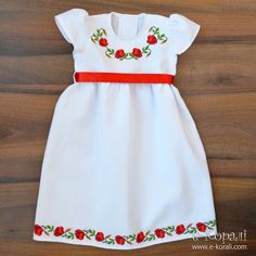 Baby Dress Design, Frock Design, Casual Dresses For Women, Nice Dresses, Girls Dresses, Embroidery Fashion, Embroidery Dress, Kids Frocks Design, Baby Dress Patterns