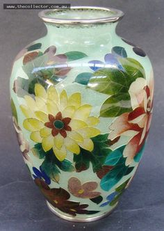 Lot 379 - Modern wireless Plique a jour floral vase - 13cm tall