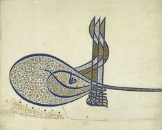 Tughra (Imperial Cipher) of Sultan Süleyman the Magnificent (r. 1520–1566), ca. 1555; Ottoman. Turkey (Istanbul). The Metropolitan Museum of Art, New York. Rogers Fund, 1938 (38.149.1) #letters #Connections