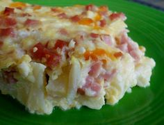 Low Carb Amish Ham Casserole 1 lb ham, cubed 1 onion, chopped ( or 6 green onions, sliced into rounds) 6 eggs 1 lb cauliflower, separated into small florets... 2 cups cheddar cheese (8 ounces) or 2 cups monterey jack pepper cheese, shredded ( 8 ounces) 16 ounces cottage cheese, small curd Combine all ingredients in a large mixing bowl and then transfer to a greased 9 x 13 baking dish. Bake, uncovered, at 350 degrees F for 35 to 40 minutes or until the mixture is set and bubbly. Let stand for…
