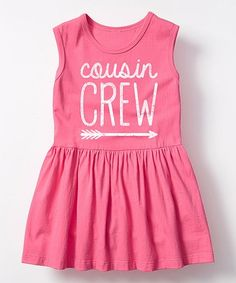 Look at this #zulilyfind! Raspberry 'Cousin Crew' Sleeveless Dress - Toddler & Girls #zulilyfinds