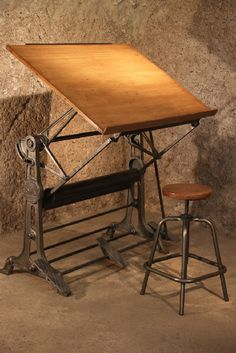 table dessin ancienne unic meuble industriel vintage de renaud jaylac pinterest table. Black Bedroom Furniture Sets. Home Design Ideas