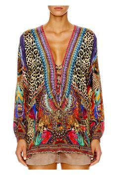boutique flirt - Camilla Kingdom Call Lace Up Shirt, $430.00 (http://www.boutiqueflirt.com/camilla-kingdom-call-lace-up-shirt/)
