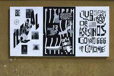 "ficciones-typografika: Alexander Medel, Ficciones Typografika 346-348 (24""x36""). Installed on April 4, 2014. More on Ficciones Typografika."