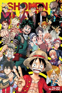 Weekly Shonen Jump Vol. The Straw Hats prove to be the ultimate party crashers when they wreck Big Mom's shindig in One Piece! And in We Never Learn, the lights go out in the middle of a study session! Plus, more motorized mayhem in Yu-Gi-Oh! ARC-V! Anime Naruto, Manga Anime, Anime Demon, Otaku Anime, App Anime, Anime Crossover, Dark Fantasy, Anime Shop, Anime Characters