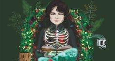 Ilustración de Paula Mayor sobre Rosalía de Castro