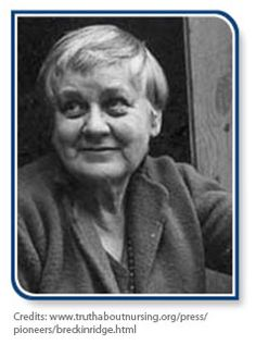 Mary Breckinridge , Founder of the New Model of Rural Health Care & Frontier Nursing Service – (1881 to 1965) – Mary Breckinridge came from an influential family and enjoyed a privileged childhood. Unfortunately, though, her 2 own children did not endure childhood. This was the most notable accounts of Mary Breckinridge that are associated with her decision to dedicate her life in improving health of poor women and children in rural areas of America.