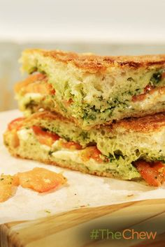 This Caprese Panino is a perfect combination of cheese, pesto & tomatoes!