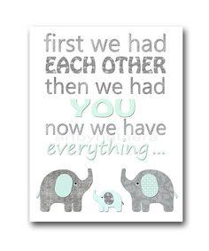 Baby Shower Gift Nursery Quote Digital Print by nataeradownload