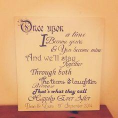 Custom handmade sign ❤  Annie Sloan old ochre and hand written
