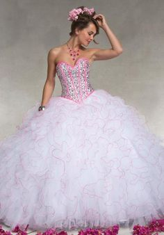 2014 Ball Gown Vizcaya 88068 Quinceanera Dress