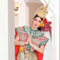 Thai costume for traditional dancing