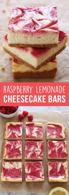 These beautifully vibrant Raspberry Lemonade Cheesecake Bars are bursting with fresh, slightly tart, and sweet flavors. You need to make them asap!