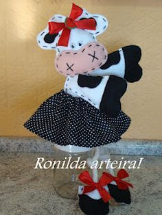 VAQUINHAS -lt;3 on Pinterest - Cute Cows, Feltro and Artesanato